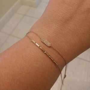 Jewelry - 14kt rose gold bar /stack bracelet blue diamonds